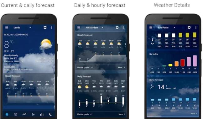 ساعت و آب و هوا برای اندروید Transparent clock & weather Pro