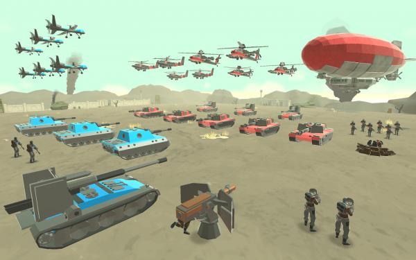 دانلود بازی شبیه ساز مبارزه ارتش اندروید Army Battle Simulator 1.1.20