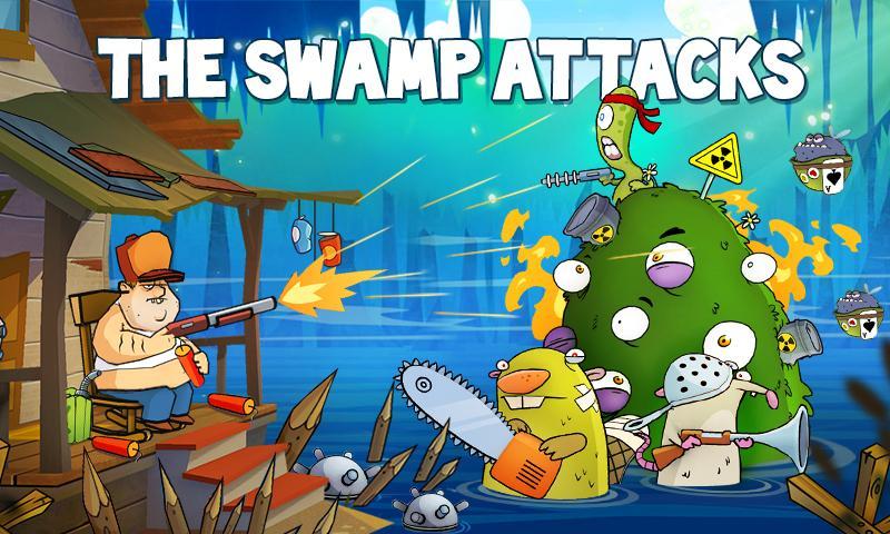 دانلود بازی هیجان انگیز حمله برکه برای اندروید Swamp Attack 2.3.1