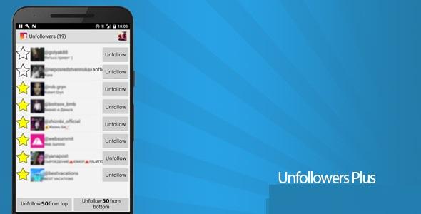 دانلود نسخه طلایی آنفالویاب اینستاگرام اندروید Unfollowers Plus 1 3 7