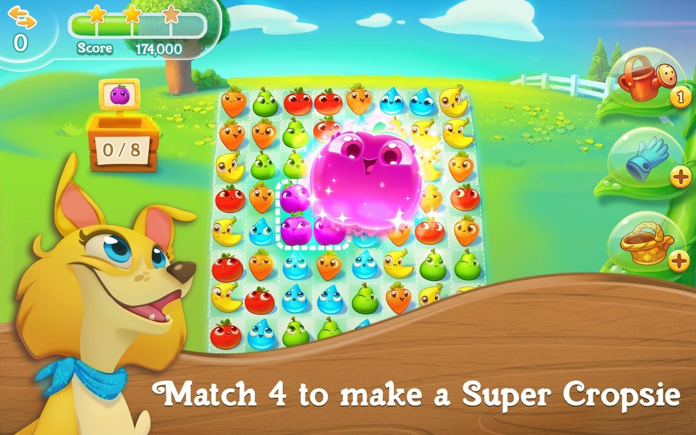 دانلود بازی چیدن میوه های هم شکل در کنار هم اندروید Farm Heroes Super Saga 0.66.3