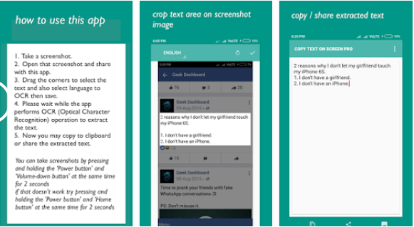 دانلود نرم افزار تبدیل عکس به متن تایپ شده Copy Text On Screen pro 2.2.1