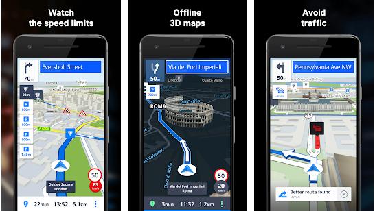 برنامه جی پی اس اندروید GPS Navigation & Maps Sygic
