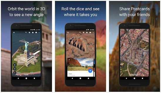 برنامه گوگل ارث برای اندروید Google Earth