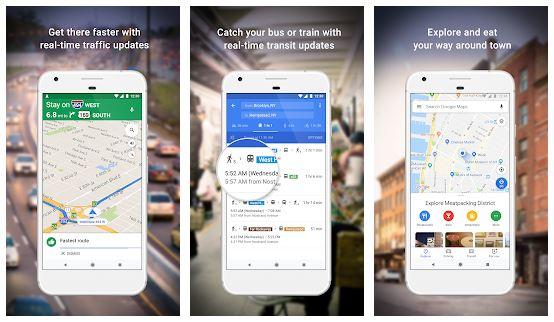 برنامه گوگل مپ برای اندروید Google Maps