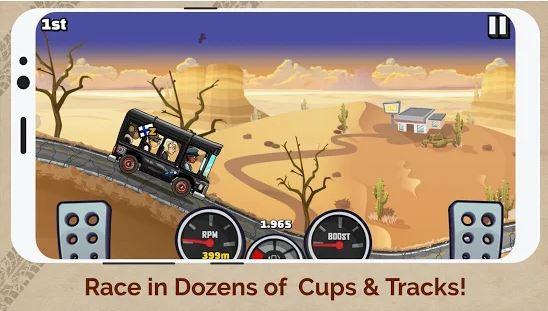 بازی تپه نوردی با ماشین اندروید Hill Climb Racing 2